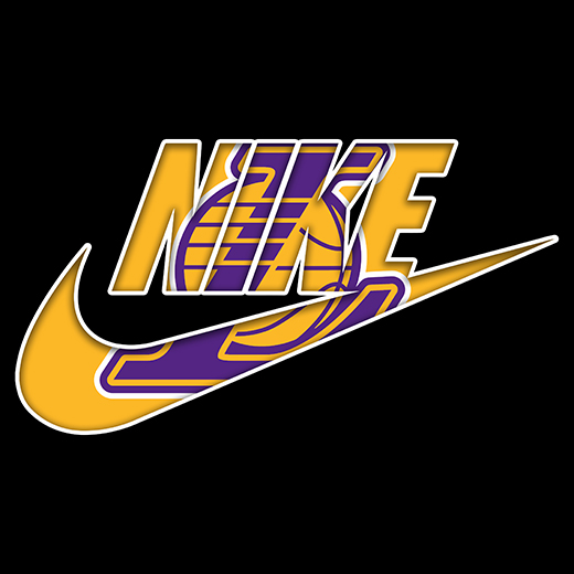 Los Angeles Lakers nike logo iron on sticker