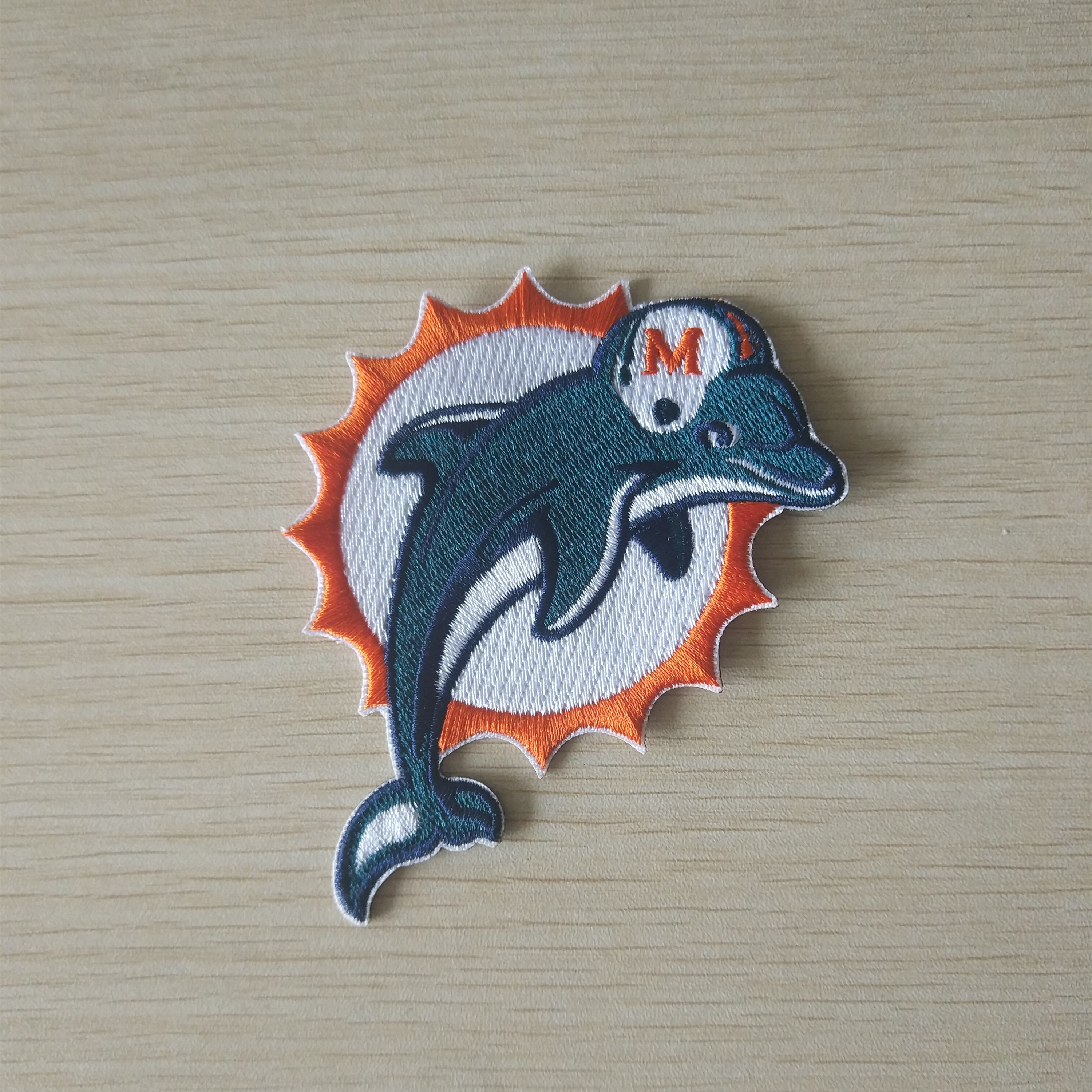 Miami Dolphins Iron on Embroidered Patch