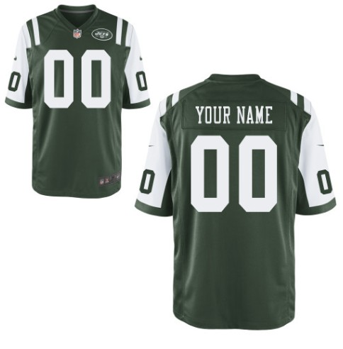 New York Jets Custom Letter and Number Kits For New Team Color Jersey