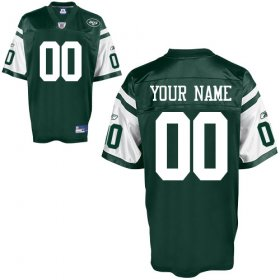 New York Jets Custom Letter and Number Kits For Team Color Jersey