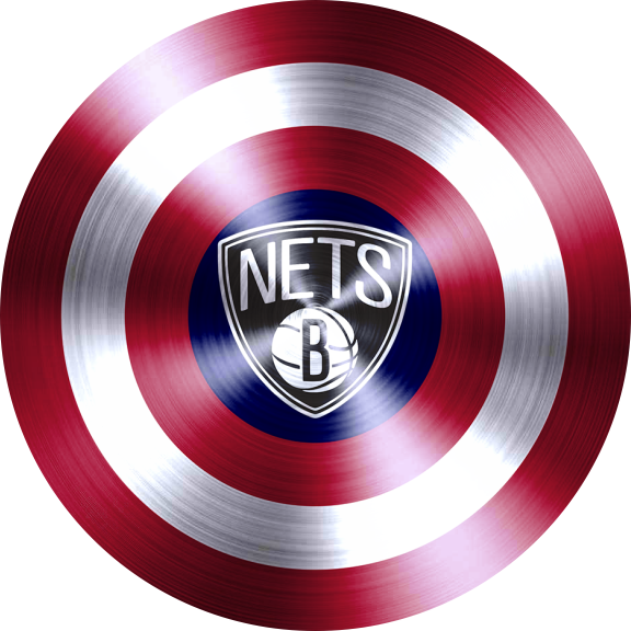 captain american shield with brooklyn nets logo decal sticker
