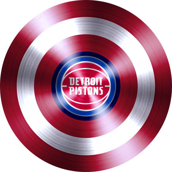 captain american shield with detroit pistons logo decal sticker
