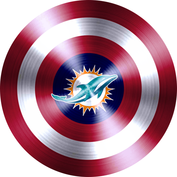 captain american shield with miami dolphins logo