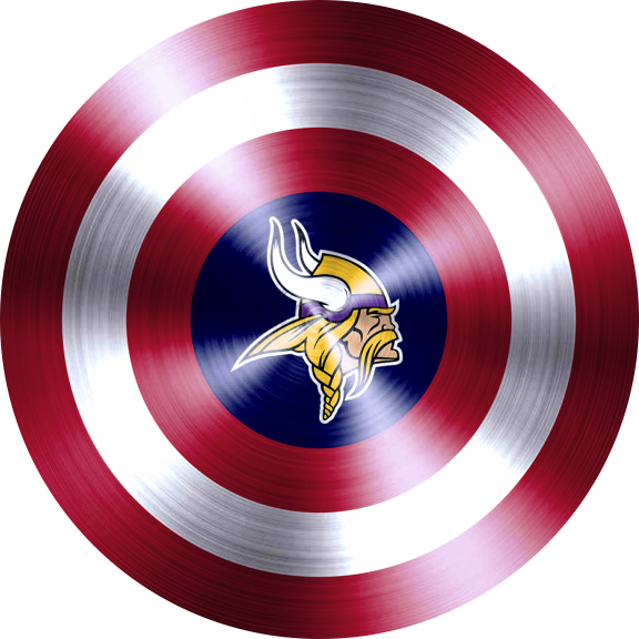 captain american shield with minnesota vikings logo