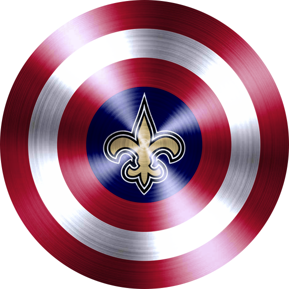 captain american shield with new orleans saints logo