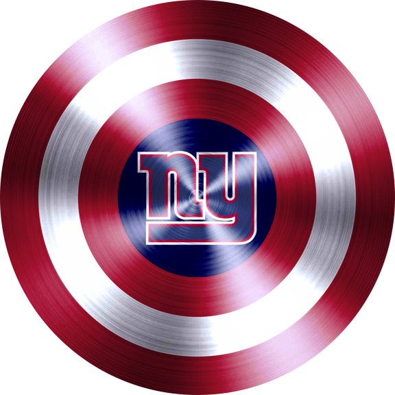 captain american shield with new york giants logo