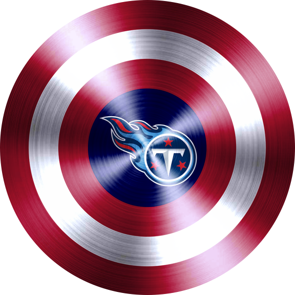 captain american shield with tennessee titans logo