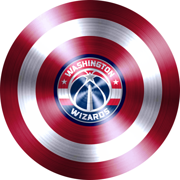 captain american shield with washington wizards logo decal sticker