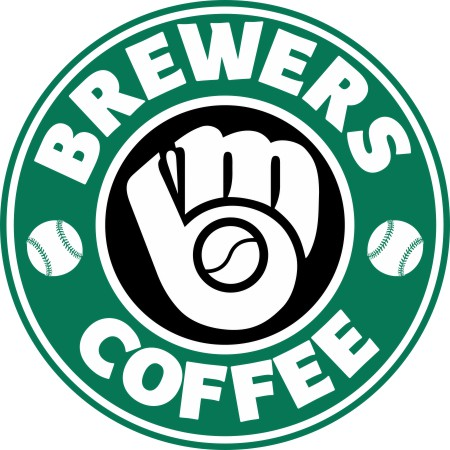 milwaukee brewers starbucks coffee logo iron on transfer