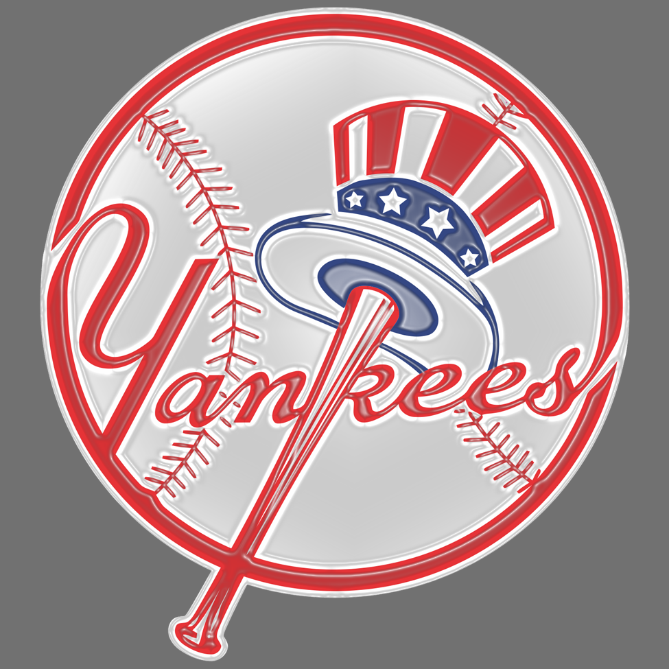 new york yankees 1968-pres primary plastic effect logo decal sticker