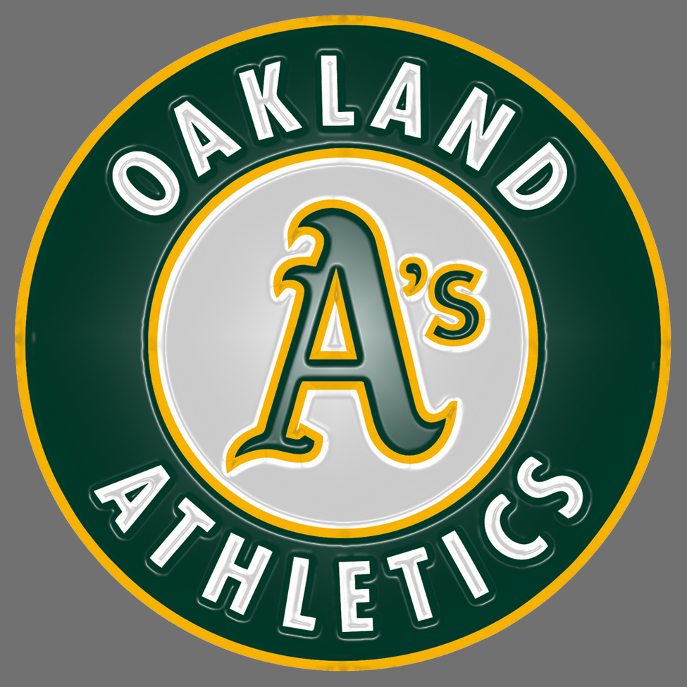 oakland athletics 1993-pres primary plastic effect logo decal sticker