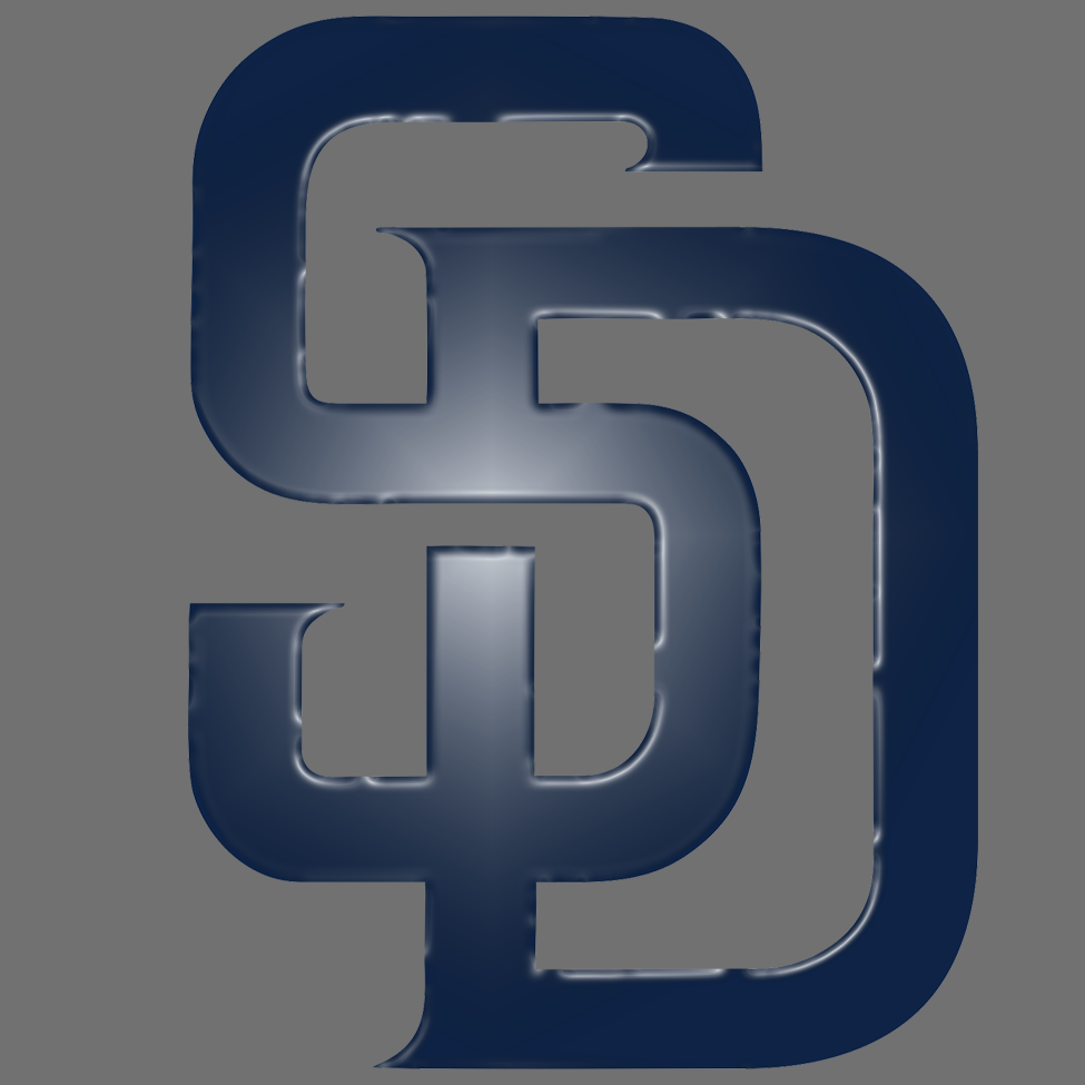 san diego padres 2015-pres primary plastic effect logo decal sticker