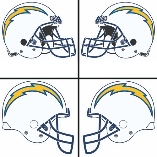 San Diego Chargers Decals: San Diego Chargers Helmet Logo Decal (Sticker) [STK-NFL