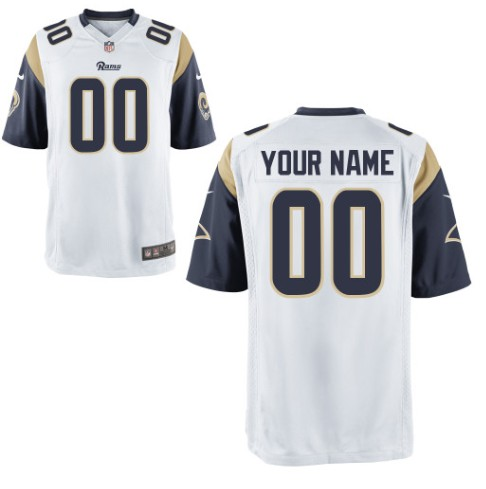 St. Louis Rams Custom Letter and Number Kits For New White Jersey